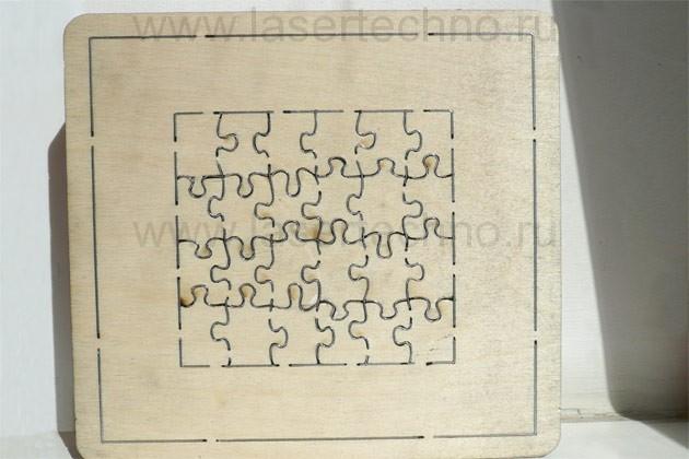 Вырубной штамп пазлы малые оборот