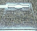 Вырубной штамп для надсечки этикетки на самоклеющейся основе